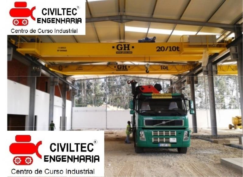Curso de Ponte Rolante Operação Orçamento Jardim Leblon - Curso de Ponte Rolante Operação