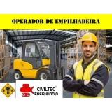 contato de empresa de curso de empilhador para empilhadeira Capelinha