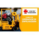 curso de reciclagem para operador de empilhadeira preço Jacareí