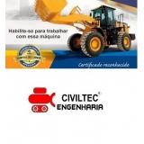 curso operador de pá carregadeira fazer Vila Monte Belo