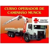 curso para guindauto munck preços Vila Rosália