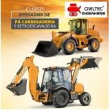 curso para operador de retroescavadeira valor Vila Fátima