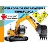 curso para operador de escavadeira