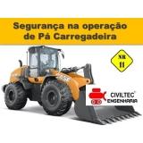 custo para curso de pá carregadeira CECAP