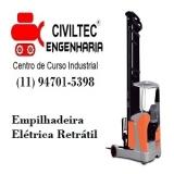 empresa de curso de empilhador de empilhadeira contato Cidade das Flores