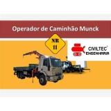 empresa de curso de guindauto e munck preços Vila Independência