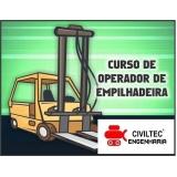 empresa de curso de manobrador de empilhador Cidade Aracilia