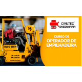 empresa de curso empilhador de empilhadeira Jardim Adalgisa