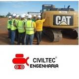 onde achar empresa de curso de operador de escavadeira hidráulica KM 18