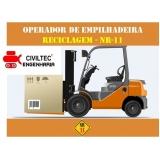 onde encontrar empresa de curso de empilhador para elétrica Cabuçu de Cima