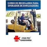 qual o valor de curso de reciclagem de empilhadeira Vila Leopoldina